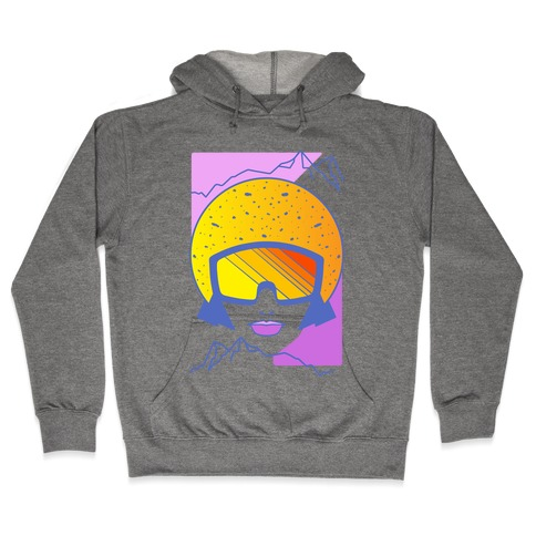 Retro Snowboarding Helmet Hooded Sweatshirt