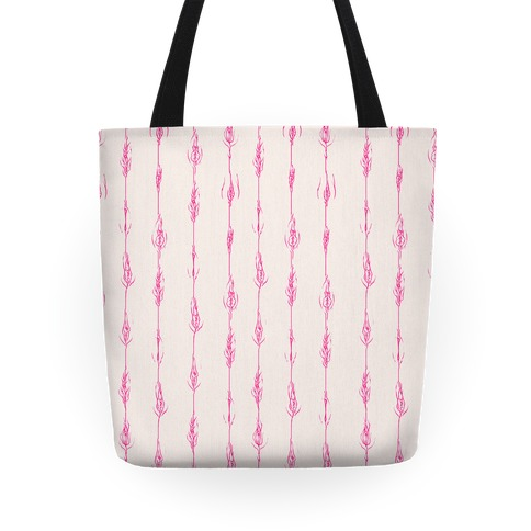 Feathery Vagina Pattern Tote