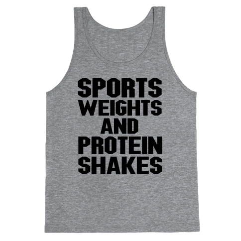 Sports Weights and Protein Shakes Tank Top