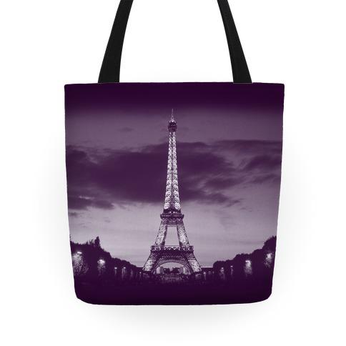 Eiffel Tower Tote (Purple) Tote