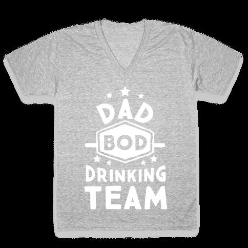 Dad Bod Drinking Team V-Neck Tee Shirt