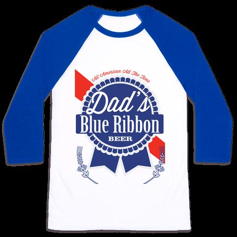 Dad's Blue Ribbon Baseball Tee