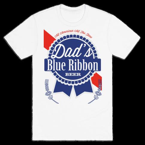 Dad's Blue Ribbon Mens T-Shirt