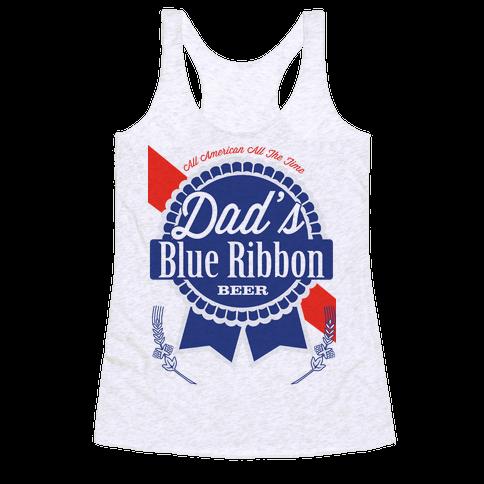 Dad's Blue Ribbon Racerback Tank Top