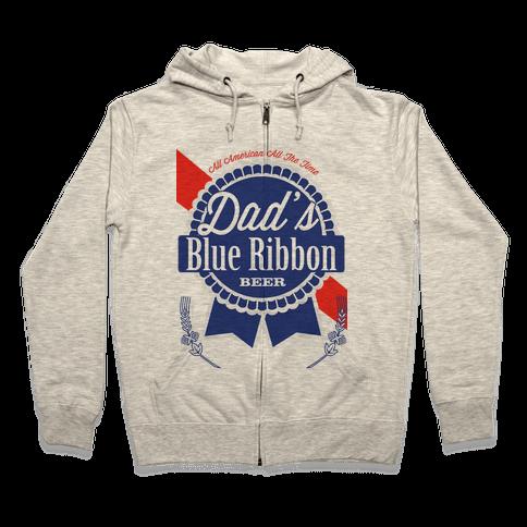 Dad's Blue Ribbon Zip Hoodie