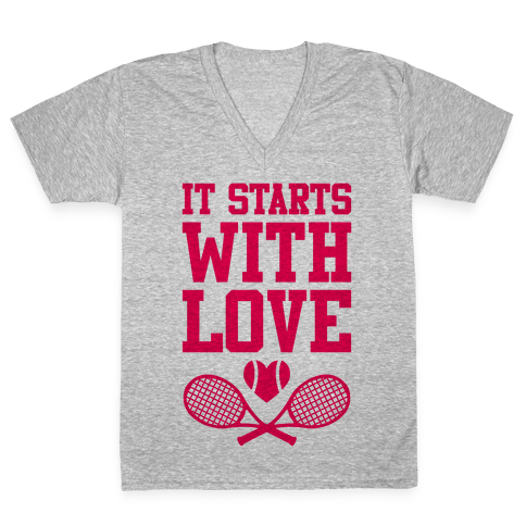 It Starts With Love V-Neck Tee Shirt