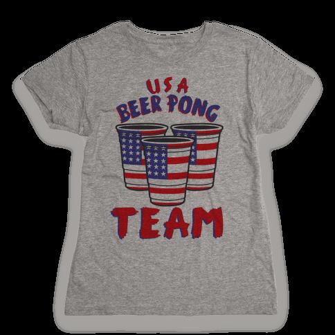 USA Beer Pong Team Womens T-Shirt