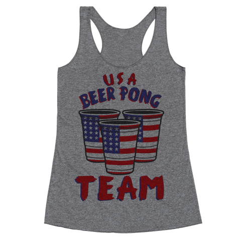 USA Beer Pong Team Racerback Tank Top