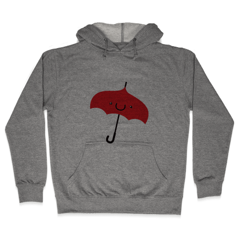 Red Umbrella Hooded Sweatshirt