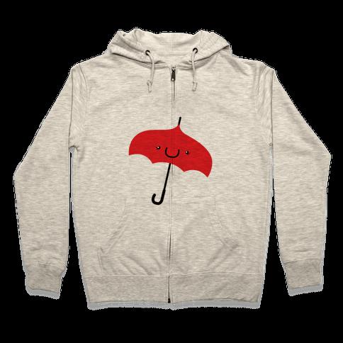 Red Umbrella Zip Hoodie