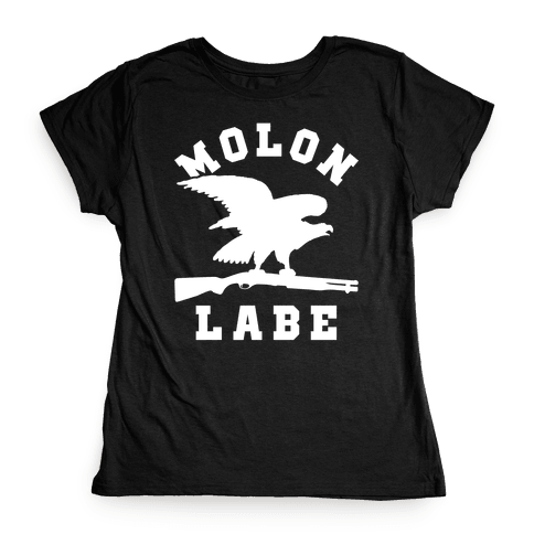 Molon Labe Eagle Womens T-Shirt