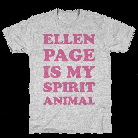 Ellen Page Is My Spirit Animal Mens T-Shirt