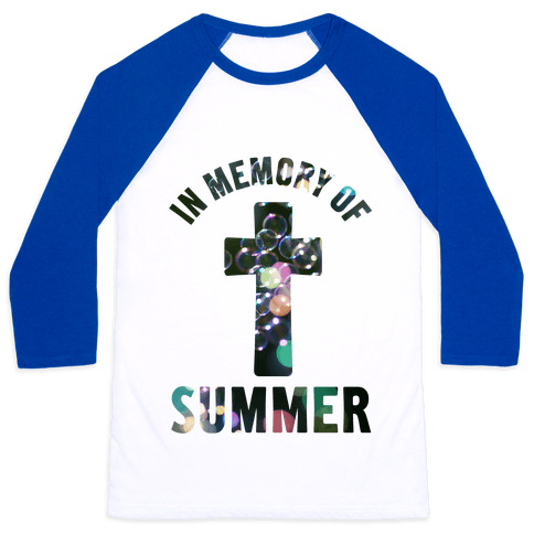 In Memory Of Summer Baseball Tee