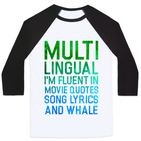 Multilingual Baseball Tee