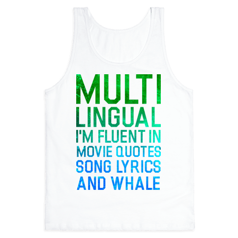 Multilingual Tank Top