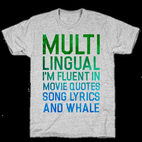 Multilingual Mens T-Shirt