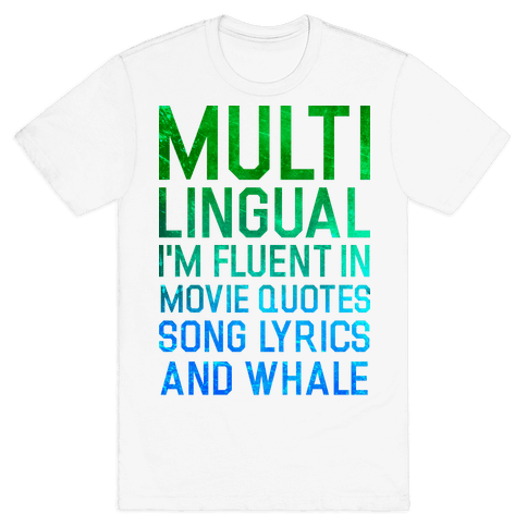 Multilingual Mens T-Shirt