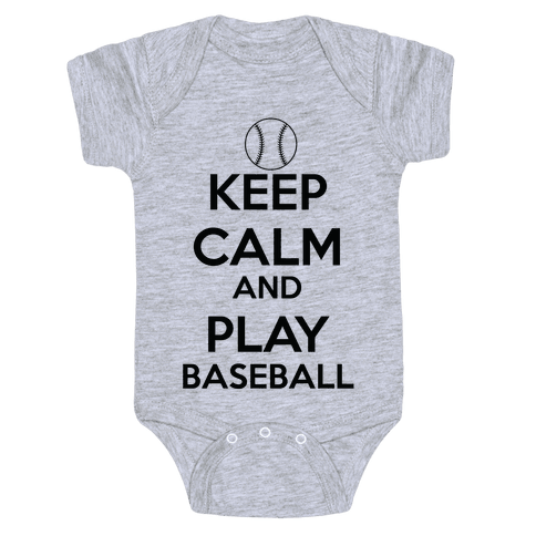 Play Baseball Baby Onesy