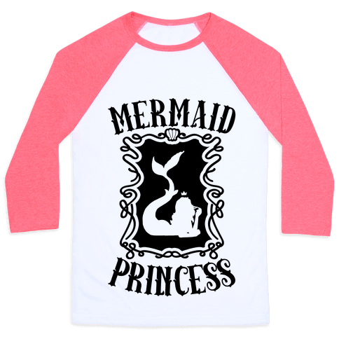 Mermaid Princess Baseball Tee