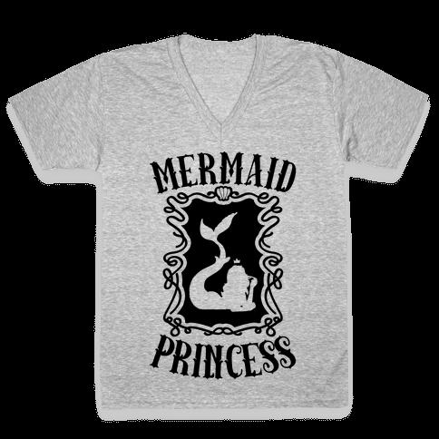 Mermaid Princess V-Neck Tee Shirt