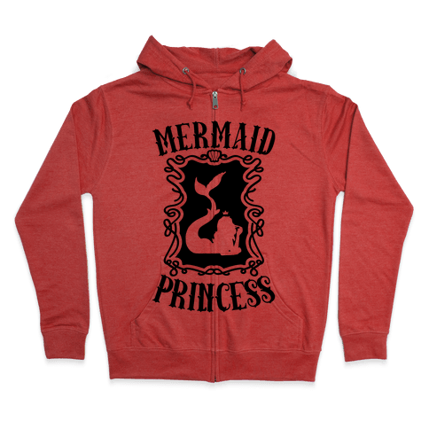Mermaid Princess Zip Hoodie