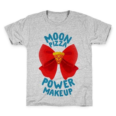 Moon Pizza Power Makeup! Kids T-Shirt