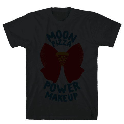 Moon Pizza Power Makeup! Mens T-Shirt