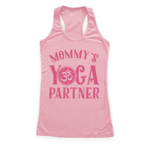 Mommy's Yoga Partner Racerback Tank Top
