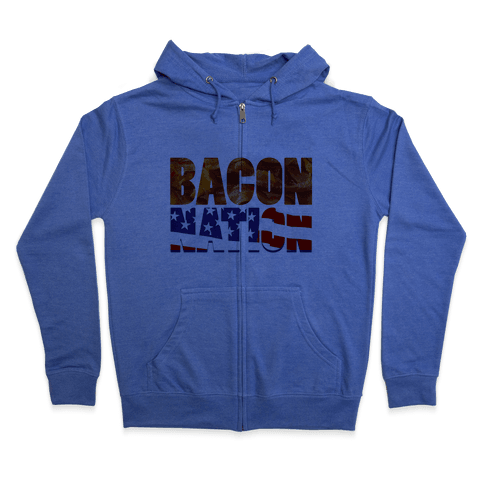 Bacon Nation Zip Hoodie