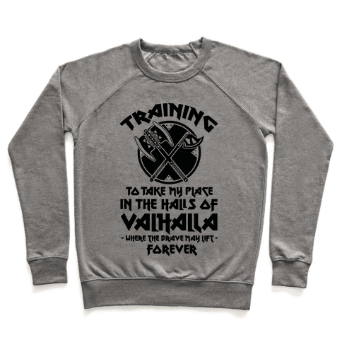 Training to Take my Place in the Halls of Valhalla Pullover