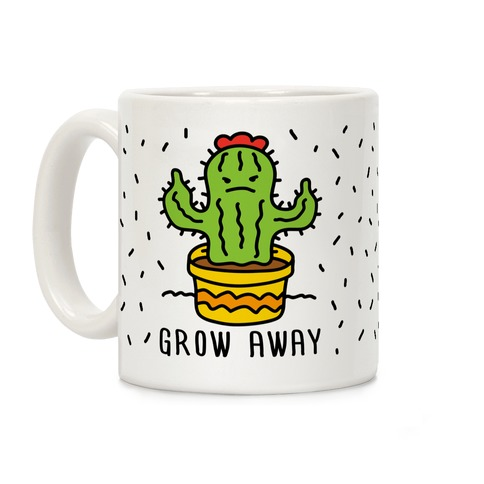 Grow Away Cactus Coffee Mug
