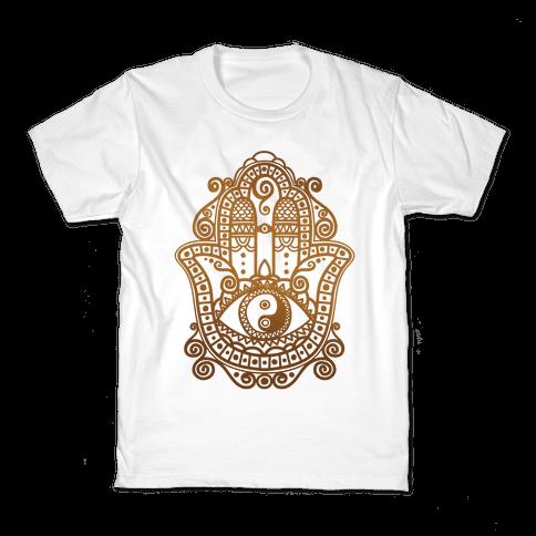 Peaceful Hamsa Hand Kids T-Shirt