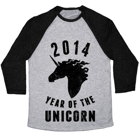 2014 Year of the Unicorn Baseball Tee