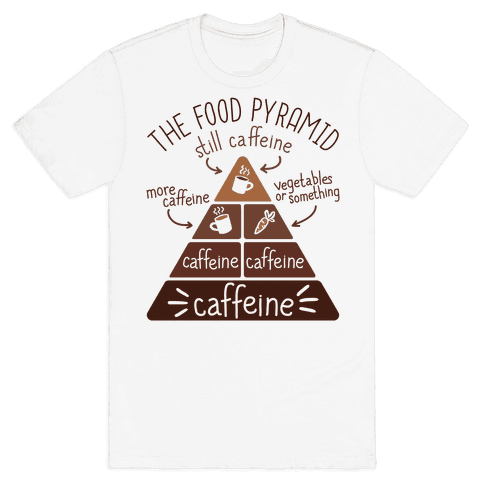 Coffee Food Pyramid Mens T-Shirt