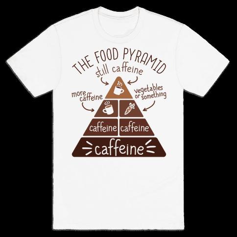 Coffee Food Pyramid Mens T-Shirt