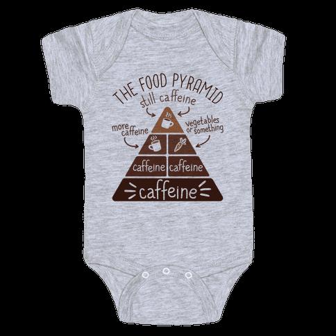 Coffee Food Pyramid Baby Onesy