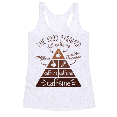 Coffee Food Pyramid Racerback Tank Top