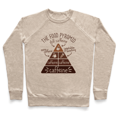 Coffee Food Pyramid Pullover