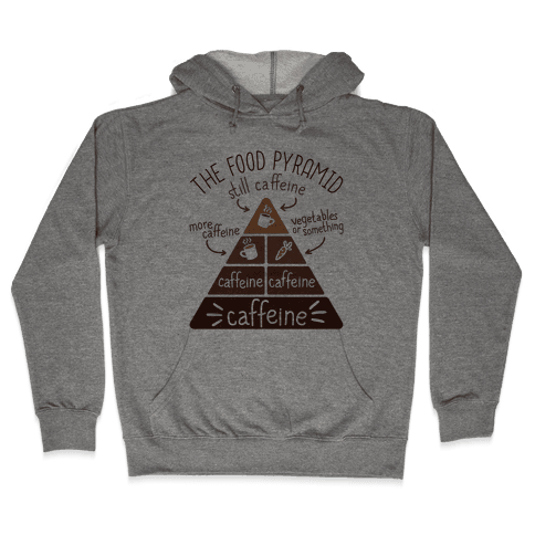 Coffee Food Pyramid Hooded Sweatshirt