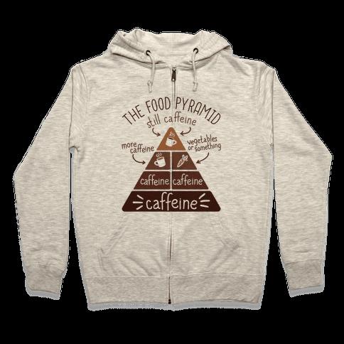 Coffee Food Pyramid Zip Hoodie