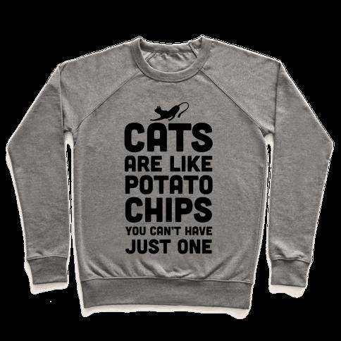 I Gatti Sono Come Le Patatine Fritte Manica Lunga T-shirt sDxlo8kZF
