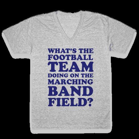 What's The Football Team Doing V-Neck Tee Shirt