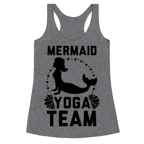 Mermaid Yoga Team Racerback Tank Top