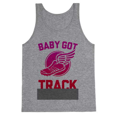 Baby Got Track (v-neck) Tank Top