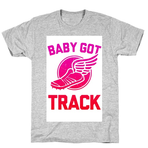 Baby Got Track (v-neck) Mens T-Shirt