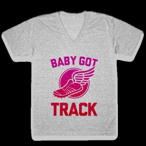 Baby Got Track (v-neck)