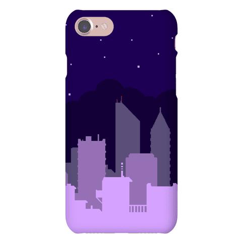 Pixel Cityscape Phone Case
