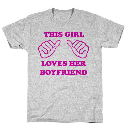 This Girl Loves Her Boyfriend Mens T-Shirt