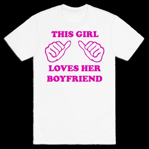 This Girl Loves Her Boyfriend Mens T-Shirt
