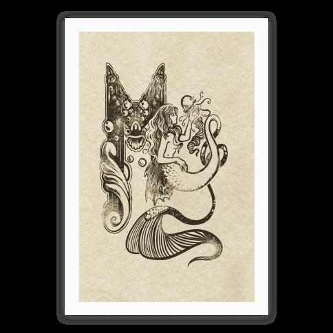 Illuminated M (Mermaid)